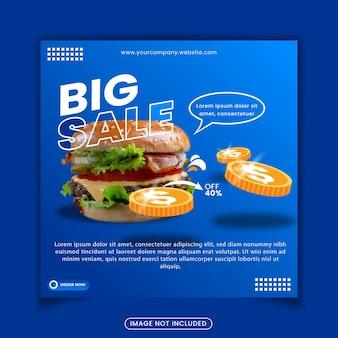 Publicación de redes sociales de menú de comida deliciosa
