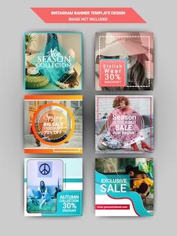 Publicación de redes sociales de moda.