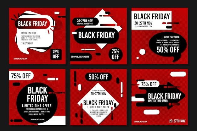 Publicación en redes sociales por tiempo limitado del viernes negro