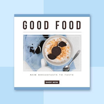 Publicación de restaurante de comida en facebook