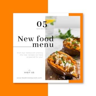 Publicación de restaurante de comida de facebook