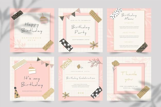Publicaciones de cumpleaños en instagram