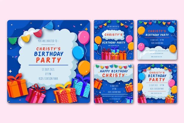 Publicaciones de cumpleaños en redes sociales