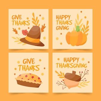 Publicaciones de instagram de acción de gracias