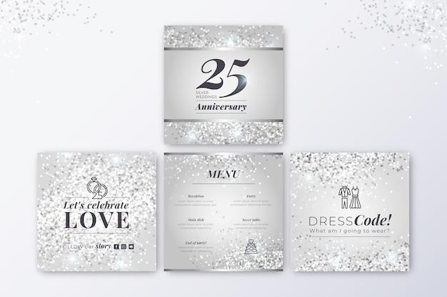 Publicaciones de instagram de aniversario 25