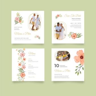 Publicaciones de instagram de aniversario de boda