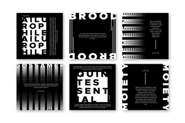 Publicaciones de instagram en blanco y negro