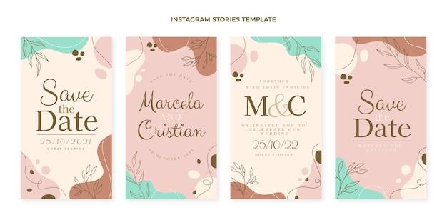 Publicaciones de instagram de boda dibujadas a mano