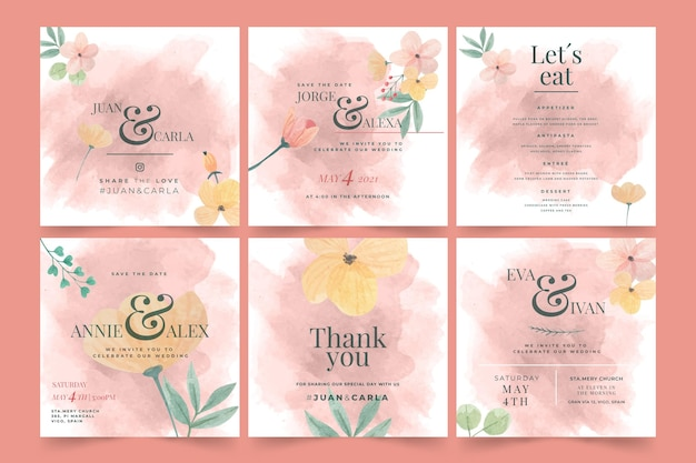 Publicaciones de instagram de boda floral
