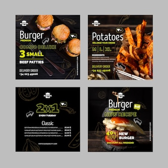 Publicaciones de instagram de burgers restaurant