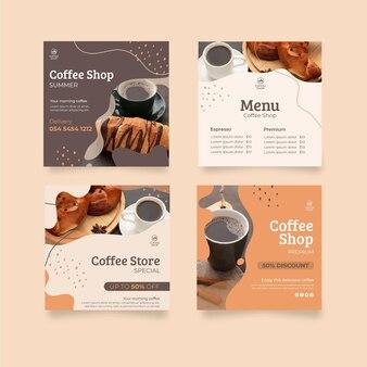 Publicaciones de instagram de cafetería