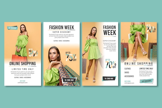 Publicaciones de instagram de compras en línea