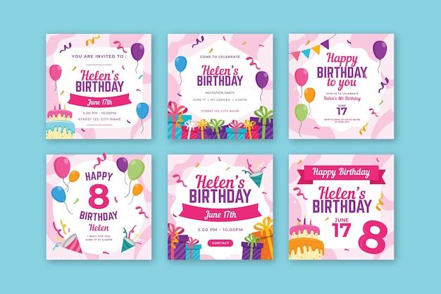 Publicaciones de instagram de cumpleaños