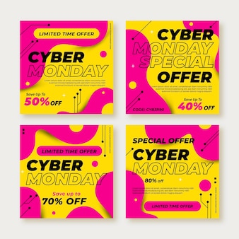 Publicaciones de instagram de cyber monday