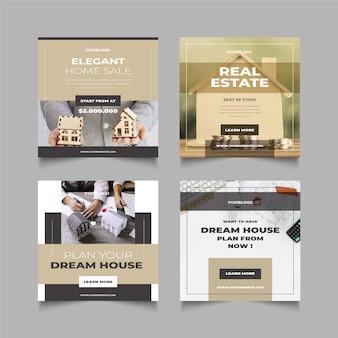 Publicaciones de instagram inmobiliarias planas