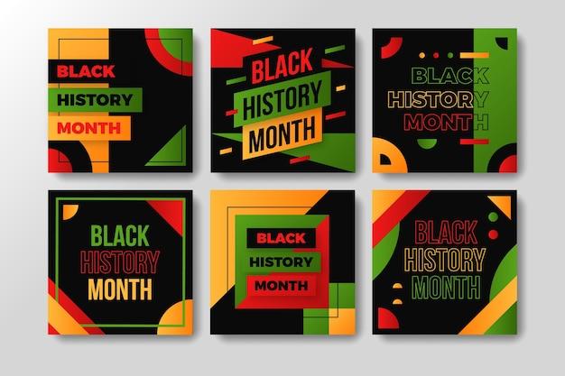 Publicaciones de instagram del mes de la historia negra plana