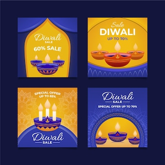 Publicaciones de instagram de rebajas de diwali