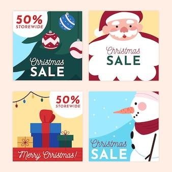 Publicaciones de instagram de rebajas de navidad