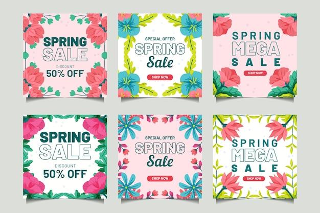 Publicaciones de instagram de rebajas de primavera
