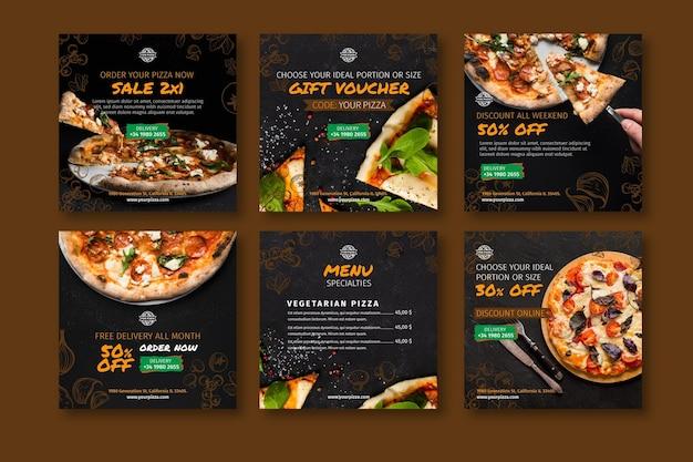Publicaciones de instagram de restaurante de pizza
