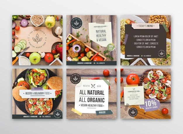 Publicaciones de instagram de restaurante vegetariano