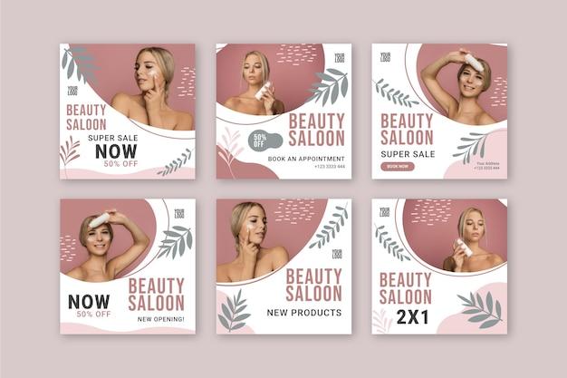 Publicaciones de instagram de salón de belleza