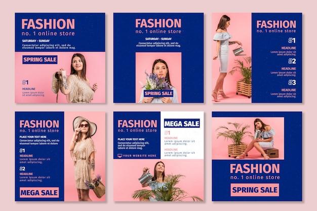 Publicaciones de instagram de la tienda online