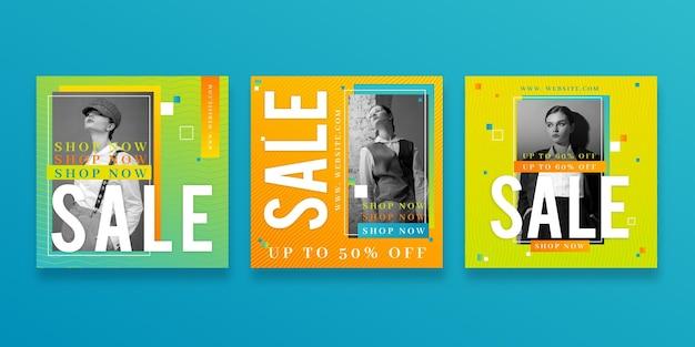 Publicaciones de instagram de venta gradiente