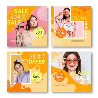 Publicaciones de instagram de venta plana con foto