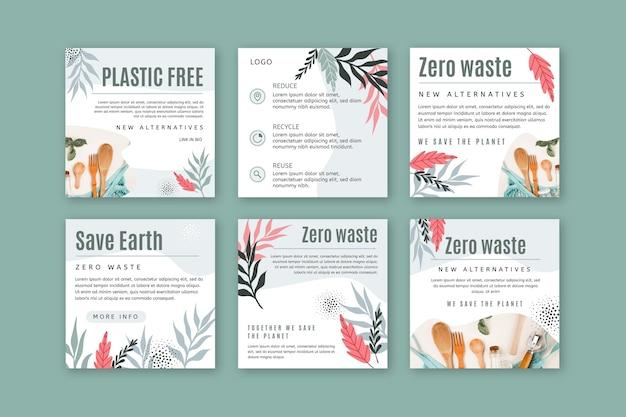 Publicaciones de instagram zero waste