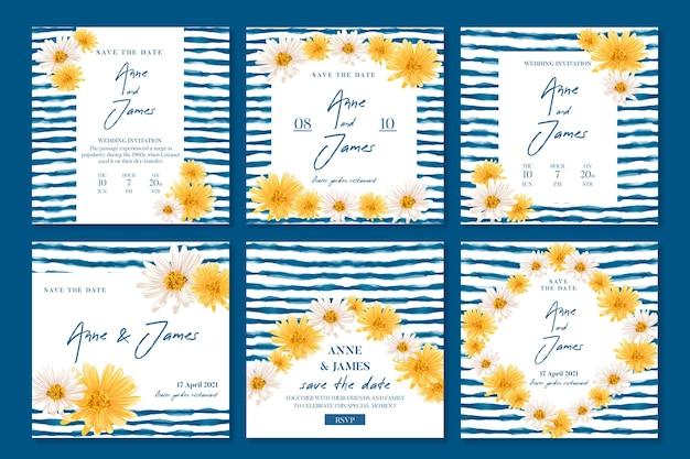 Publicaciones mínimas de instagram de bodas