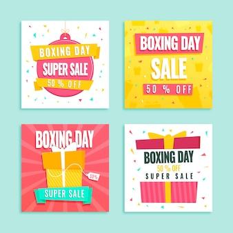 Publicaciones en redes sociales de la venta del día del boxeo