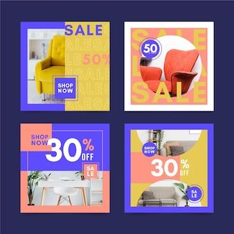 Publicaciones en redes sociales de venta de muebles