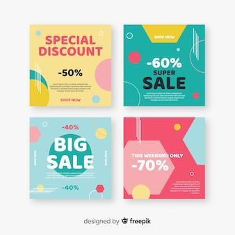 Publicaciones de venta abstracta colorida instagram