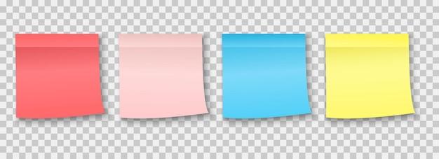 Publicar una nota adhesiva. pedazo de nota adhesiva de papel colección de varios adhesivos coloridos para tablones de anuncios, adhesivos adhesivos de correos en blanco