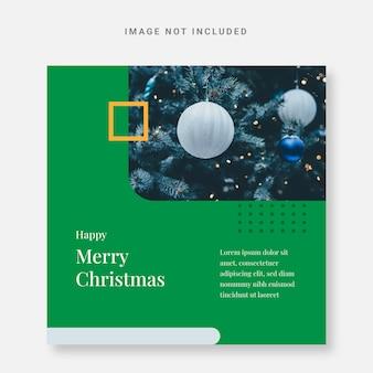 Publicar plantilla de diseño de navidad de instagram verde