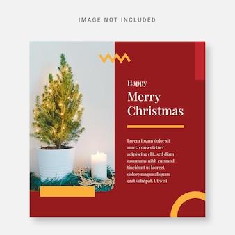 Publicar plantilla de diseño navideño de instagram