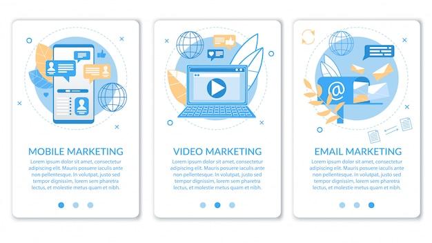 Publicidad banner video email marketing móvil.