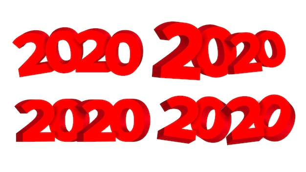 Publicidad de feliz año nuevo 2020
