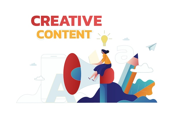 Publicidad de marketing de estrategia de contenido