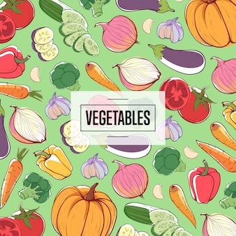 Publicidad de supermercado de verduras ecológicas naturales