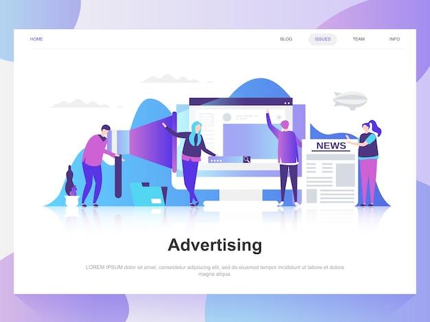 Publicidad y promoción moderno concepto de diseño plano.
