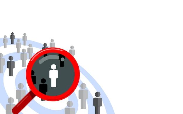 Público objetivo, cliente de enfoque. dart y almacenar el concepto de vector de diseño plano aislado