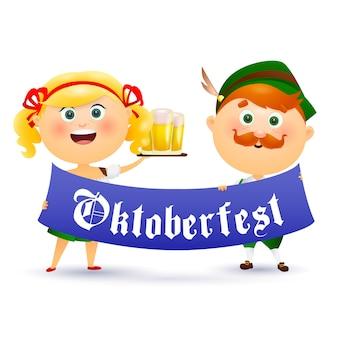 Pueblo alemán que celebra el oktoberfest
