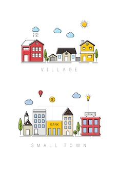 Pueblo y pequeña ciudad