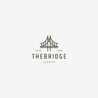 Puente logo ilustración retro vintage