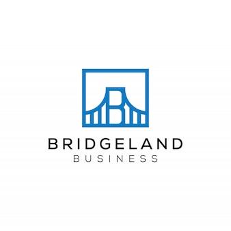 Puente minimalista moderno simple con logotipo de monograma