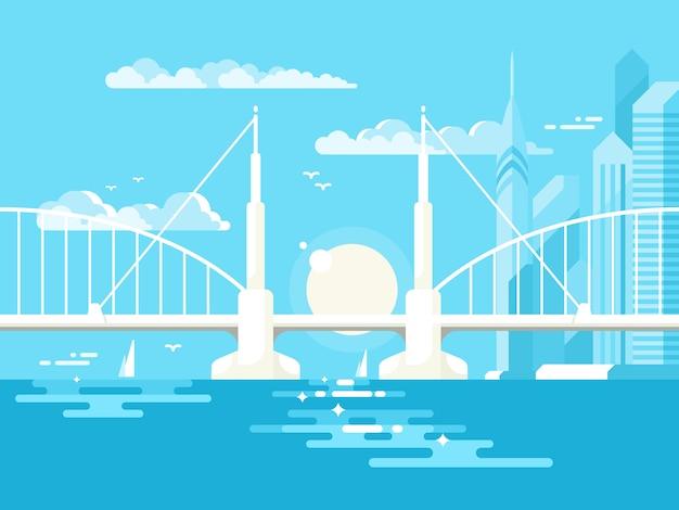 Puente moderno diseño plano