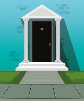 Puerta de la casa frente