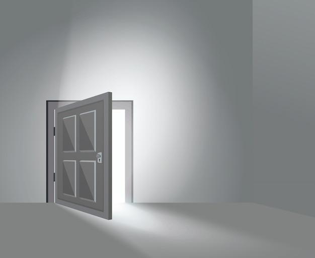 Puerta de la habitación abierta